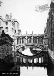 Cambridge, Bridge Of Sighs, St John's College c.1873