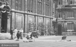 Cambridge, Caius College, An Outside Performance c.1955