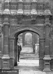 Caius College, Through The Gate Of Honour 1890, Cambridge