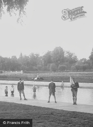 Cambridge, Children's Paddling Pool, Boy With A Toy Boat 1931