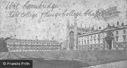 Cambridge, Clare College And King's College Chapel c.1873