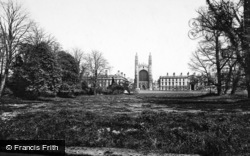 Cambridge, King's College Chapel From King's Piece 1890