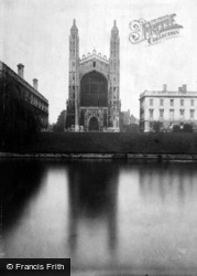 Cambridge, King's College Chapel From River 1931