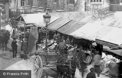 Market Stalls 1890, Cambridge