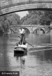 On The River Cam c.1955, Cambridge