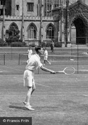 Playing Tennis  c.1955, Cambridge
