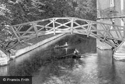 Queens' College Bridge 1908, Cambridge