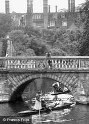 St John's College And Wren's Bridge c.1955, Cambridge