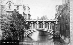 Cambridge, St John's College, Bridge Of Sighs c.1890
