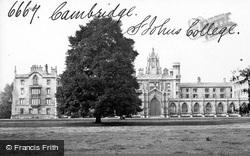 Cambridge, St John's College c.1873