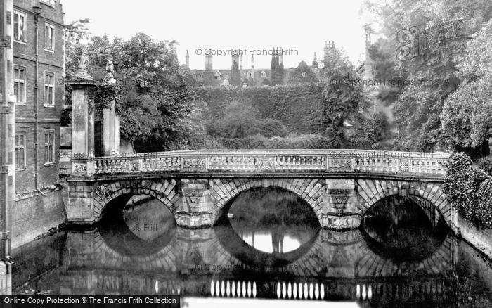 Photo of Cambridge, St John's College From Old Bridge c.1860
