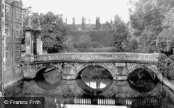 St John's College From Old Bridge c.1860, Cambridge