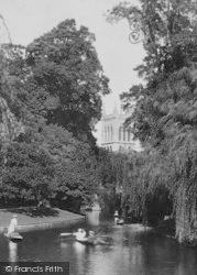 Cambridge, St John's College From River 1908