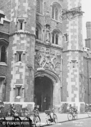 Cambridge, St John's College, The Gateway c.1955