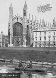 The Backs And King's College Chapel 1890, Cambridge