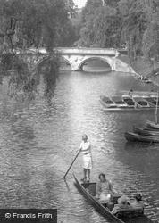 Trinity College Bridge 1929, Cambridge