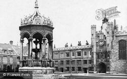 Cambridge, Trinity College Fountain c.1873