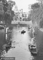 Cambridge, View On The Cam 1914