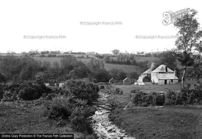 Camelford,Mill and stream 1894,Cornwall