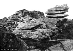 Camelford, Rough Tor, The Summit 1894