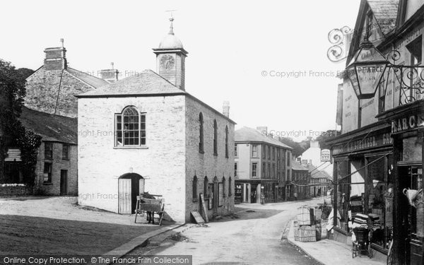 Photo of Camelford, Town Hall 1895