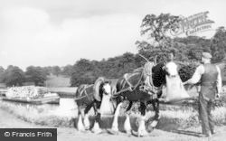 Camelon, Forth And Clyde Canal, Horse-Drawn Barge c.1935