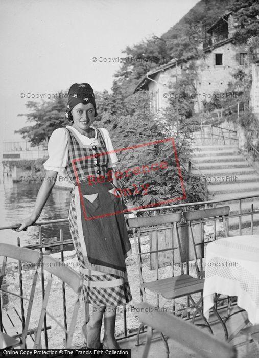 Photo of Campione D'italia, Waitress c.1935