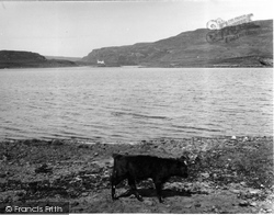 Canna, From Sanday, Showing Dorlinn House 1957