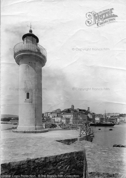 Photo of Cannes, Lighthouse And Mont Chevalier 1890