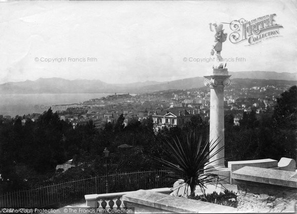 Photo of Cannes, Monument On Mont Chevalier 1890
