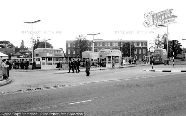 Photo of Cannock, Bus Station And Mining College c.1965