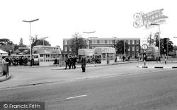 Cannock, Bus Station And Mining College c.1965