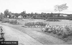 Cannock, Cannock Park, Rose Garden c.1955