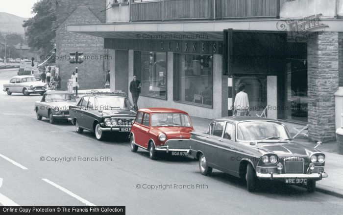 Photo of Cannock, Cars In Walsall Road c.1965