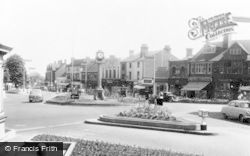 Cannock, Clock Tower And Market Place c.1960