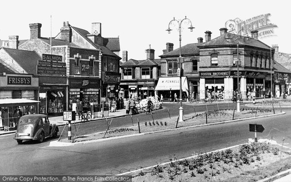Photo of Cannock, Market Place c.1955