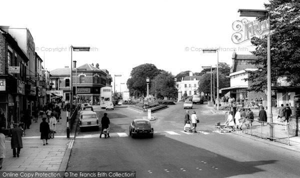 Photo of Cannock, Market Place c.1965