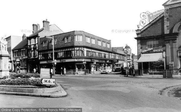 Photo of Cannock, Town Centre c.1965