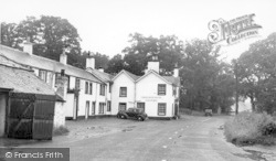 Canonbie, Main Street And Cross Keys Hotel c.1955