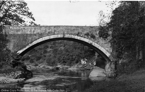 Photo of Canonbie, Penton Bridge And River Liddle c.1955