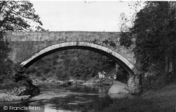 Penton Bridge And River Liddle c.1955, Canonbie