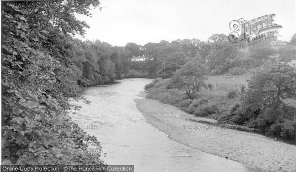 Photo of Canonbie, River Esk c.1955
