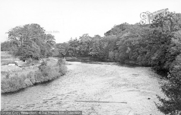 Photo of Canonbie, River Esk From Canonbie Bridge c.1955