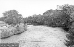 Canonbie, River Esk From Canonbie Bridge c.1955