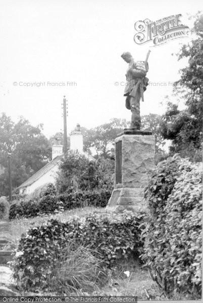 Photo of Canonbie, War Memorial c.1965