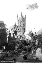 Cathedral, Bell Harry Tower 1890, Canterbury