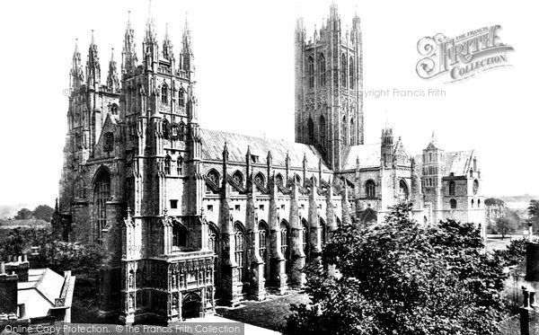 Canterbury, Cathedral c1860