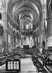 Cathedral, Choir East 1921, Canterbury