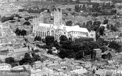 Cathedral From The Air c.1935, Canterbury