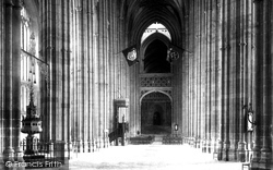 Cathedral Nave East 1898, Canterbury